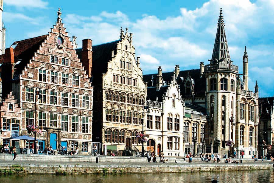 Graslei, Gent, Belgie