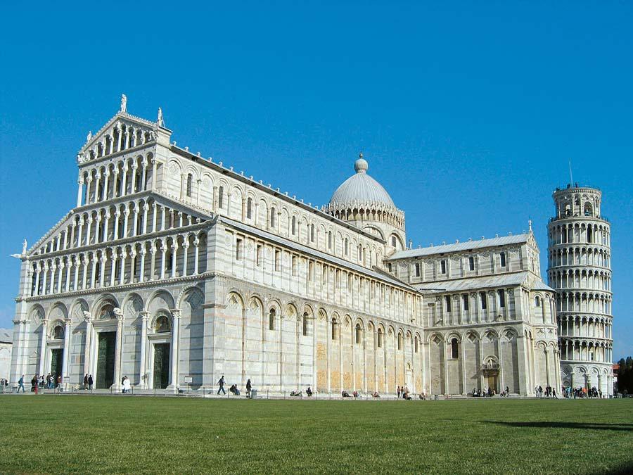 Katedrála a zvonice v Pise, Itálie