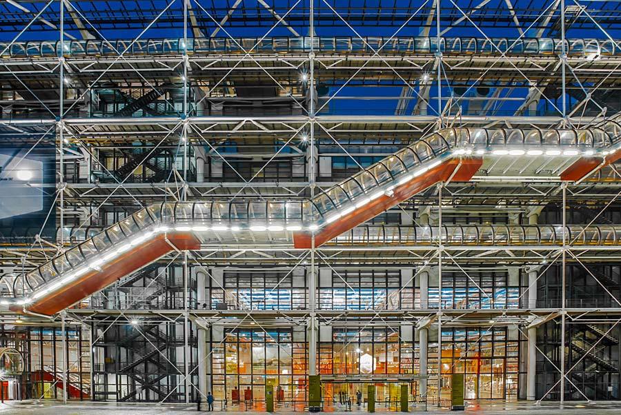 Centre Pompidou, Paříž, Francie