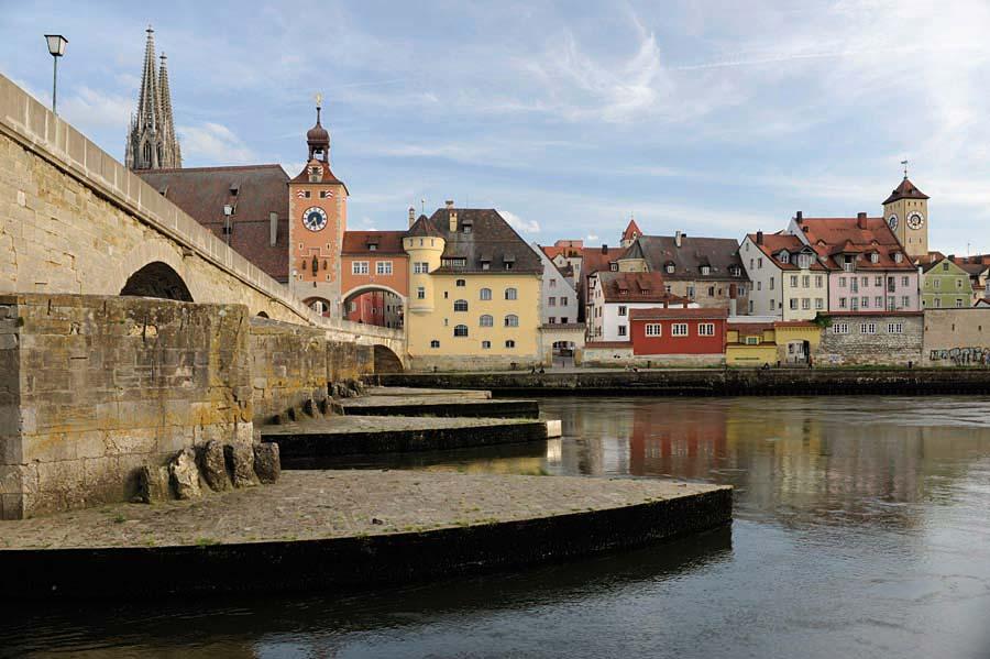 Steinerne Brücke, Regensburg, Německo