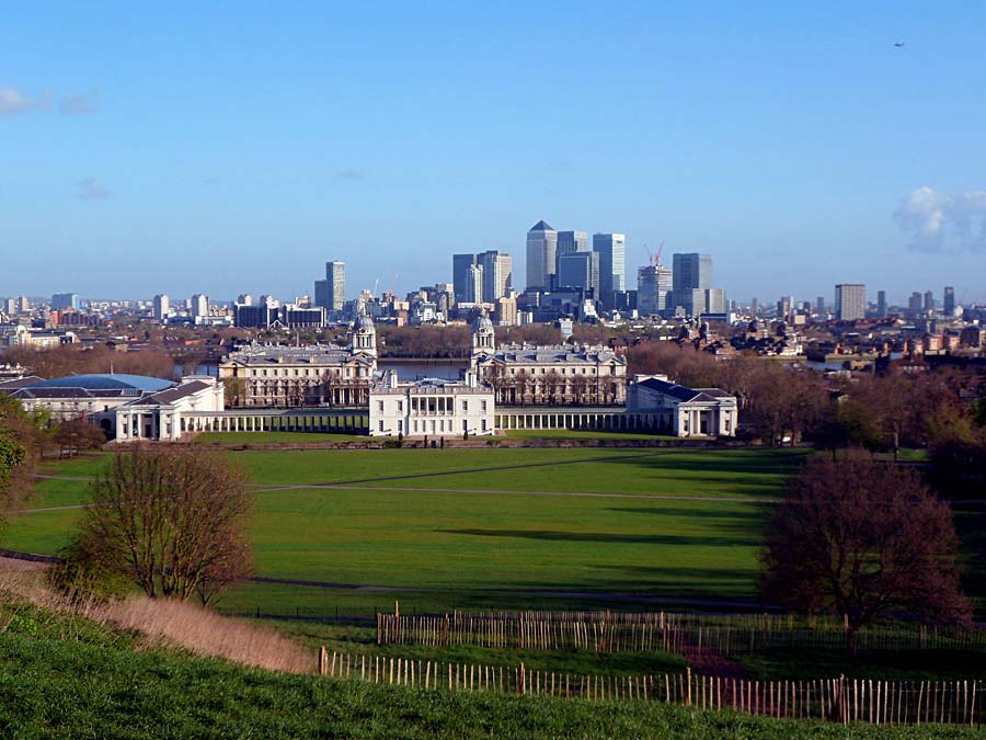 Greenwich a Canary Wharf, Londýn, Anglie
