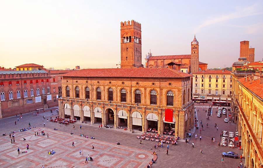 Palazzo del Podesta, Bologna, Itálie