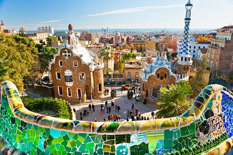 Park Güell, Barcelona, Španělsko