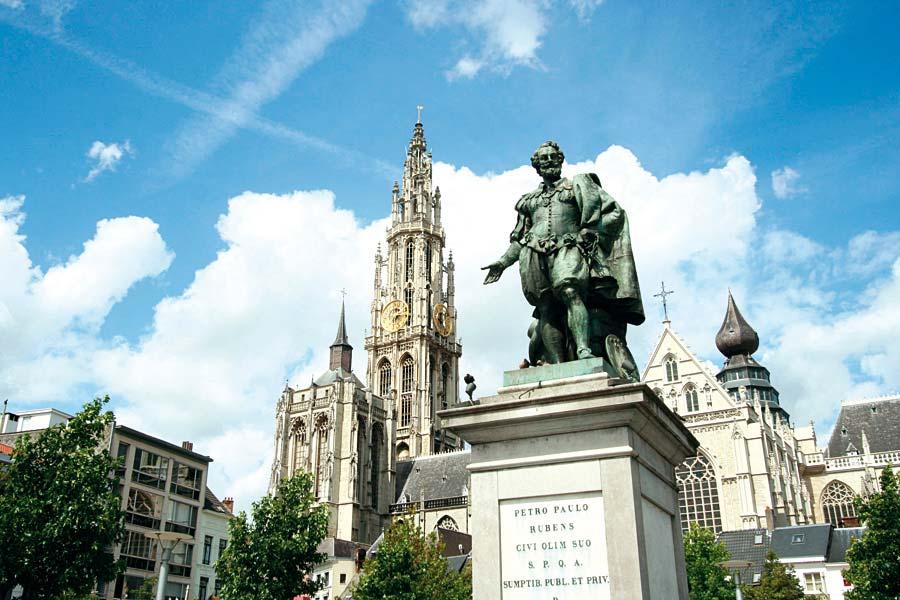 socha P.P.Rubense, Antverpy Belgie
