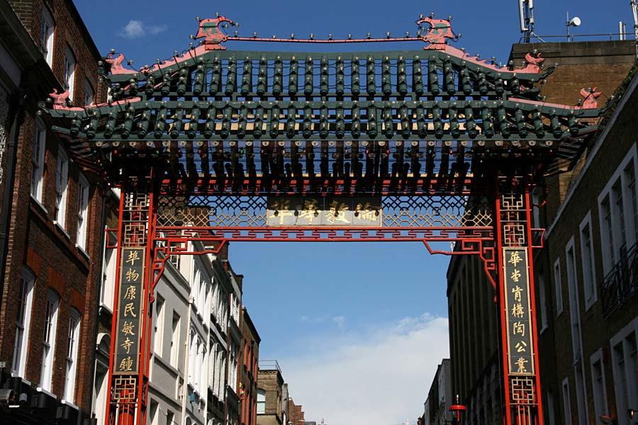 Chinatown gate, Londýn, Anglie