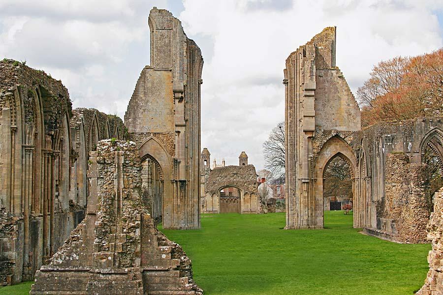 Glastonbury Abbey, Glastonbury, Anglie