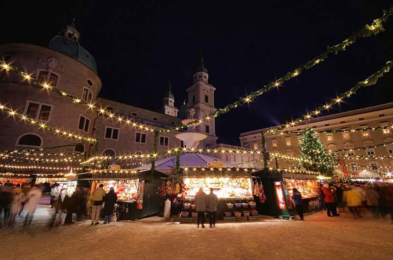 vánoční trhy, Salzburg, Rakousko