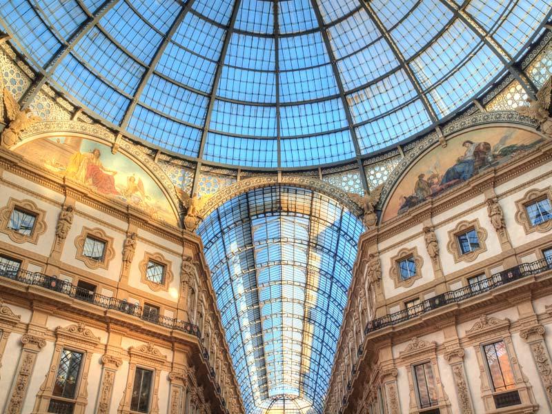 Galeria Vittorio Emanuelle II., Miláno, Itálie