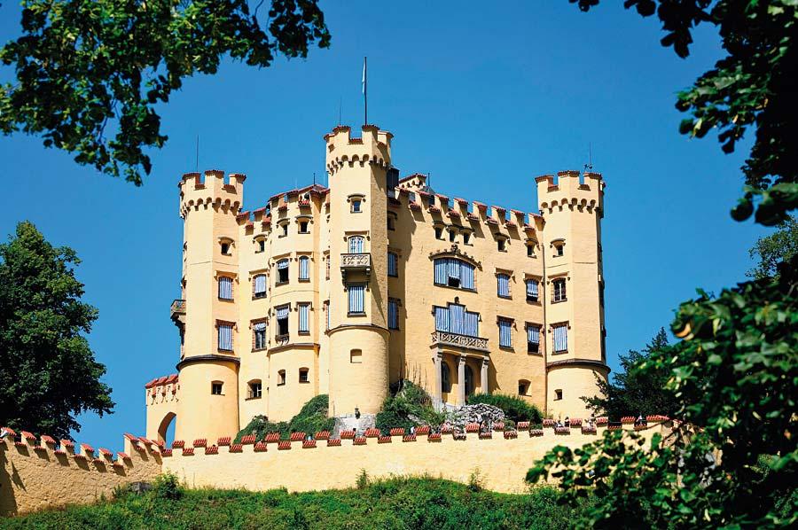 Hohenschwangau v Bavorsku, Německo