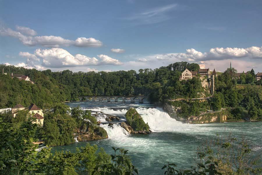 Rýnské vodopády, Schaffhausen, Švýcarsko