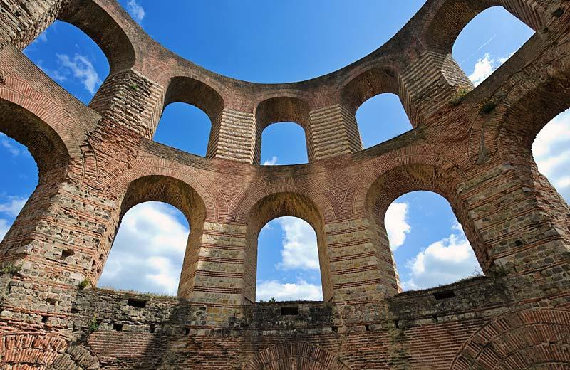 římské lázně, Trier, Německo