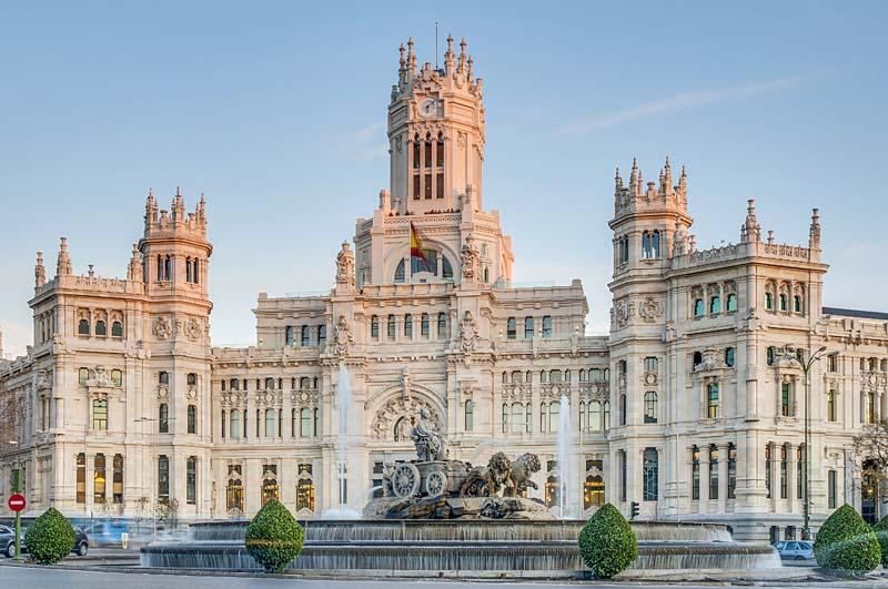 Fontána Cibeles, Madrid, Španělsko
