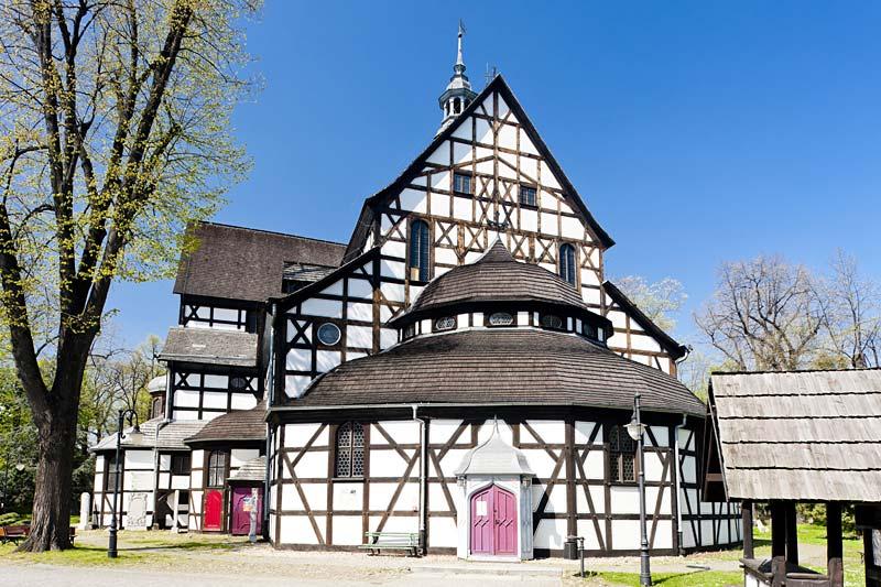 kostel ve městě Swidnica, Polsko