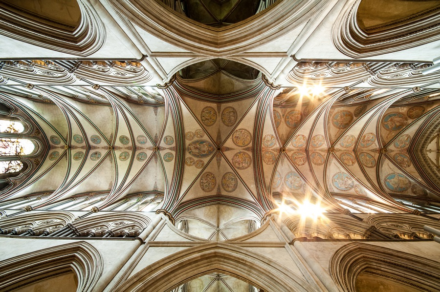 Anglie, Salisbury, Salisbury Cathedral - Ceiling