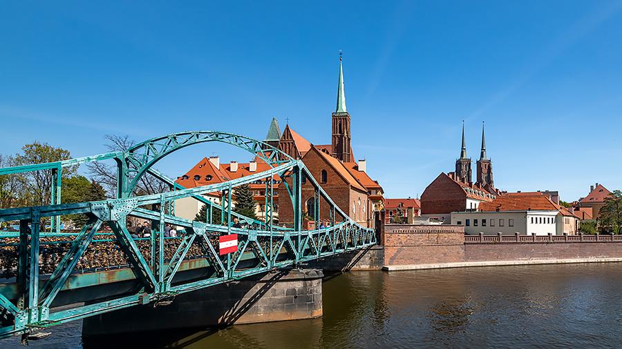 Polsko Wroclaw most Tumski R.jpg
