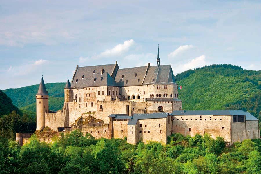 hrad Vianden,Lucembursko