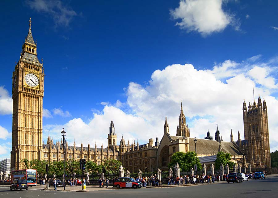 Big Ben a Westminster Palace, Londýn, Anglie