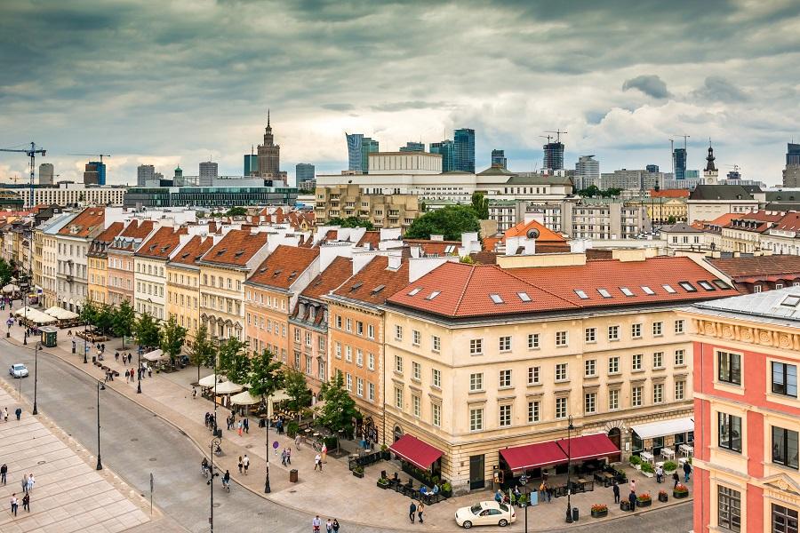 Krakowskie Przedmiescie, Warsawa, Polsko
