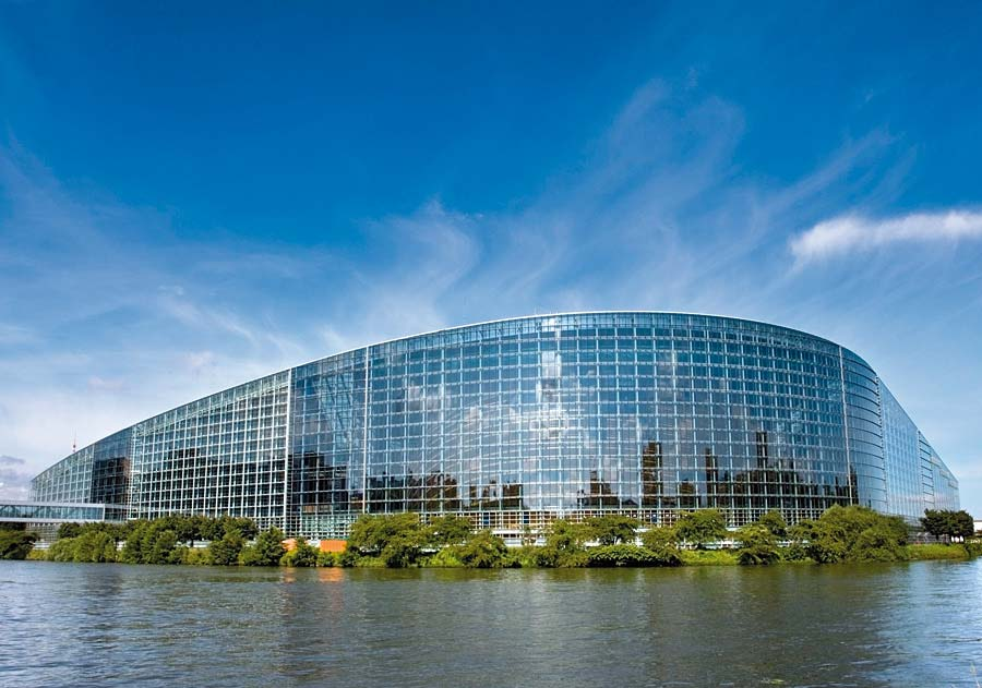 Evropský parlament, Strasbourg, Francie