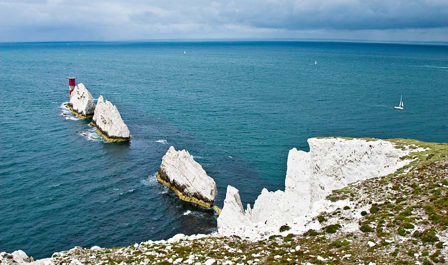 The Needles, Isle of Wight, Anglie