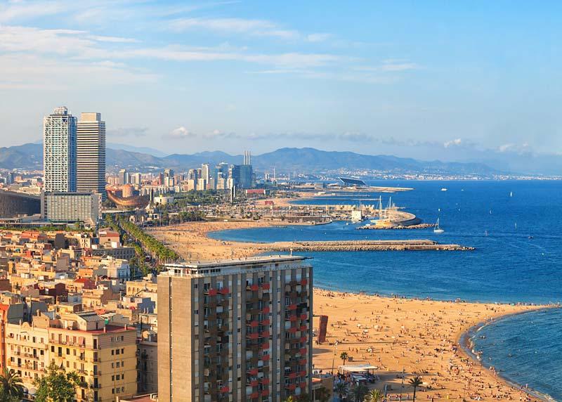 Pláž Barcelonetta, Barcelona, Španělsko