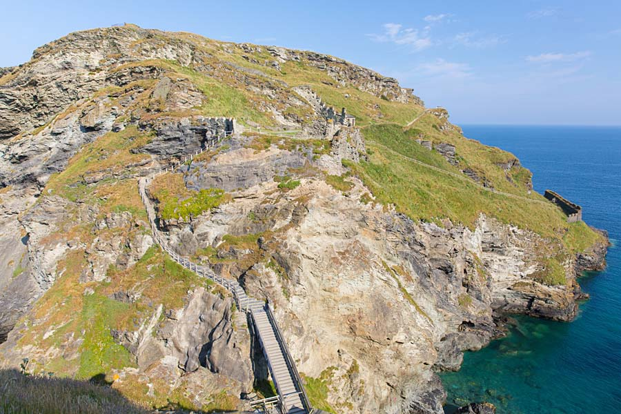 Tintagel Castle, Cornwall, Anglie