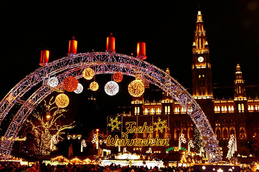 Rakousko Viden, Radnice, advent