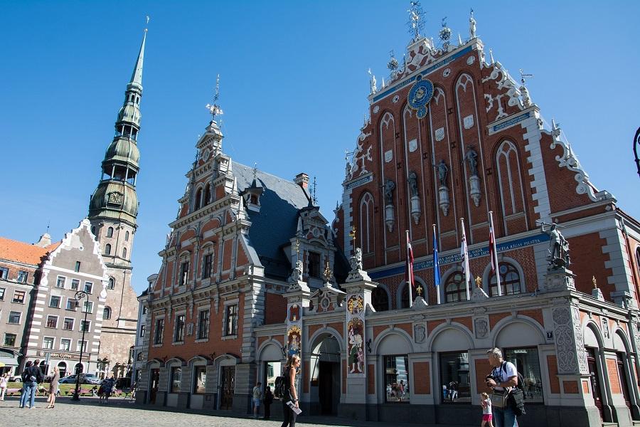 Lotyšsko Riga, náměstí