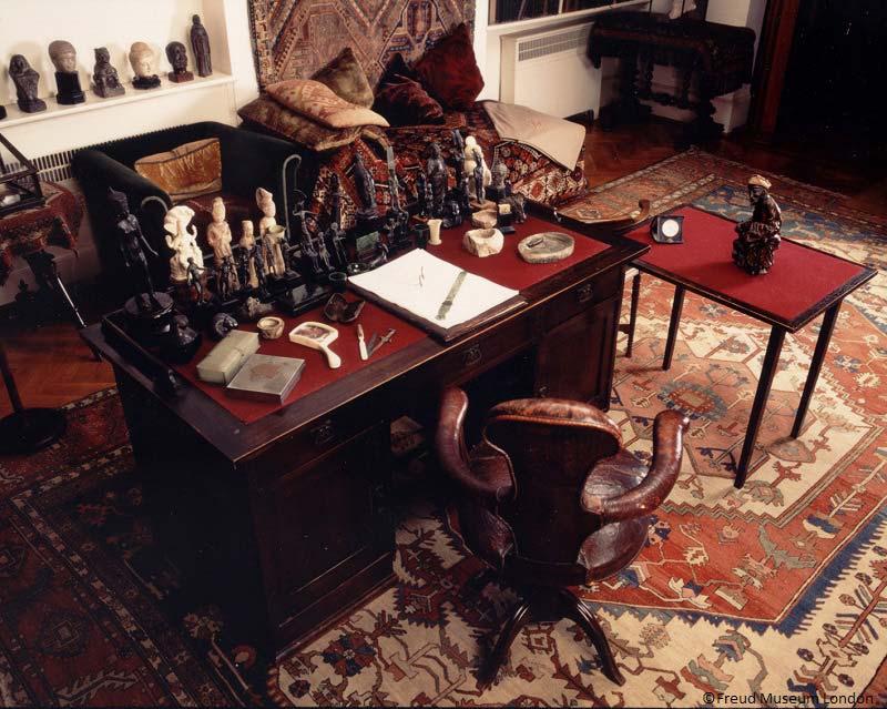 pracovna, dům Sigmunda Freuda, Londýn, Anglie