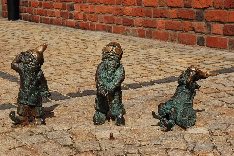 Polsko Wroclaw, trpaslici