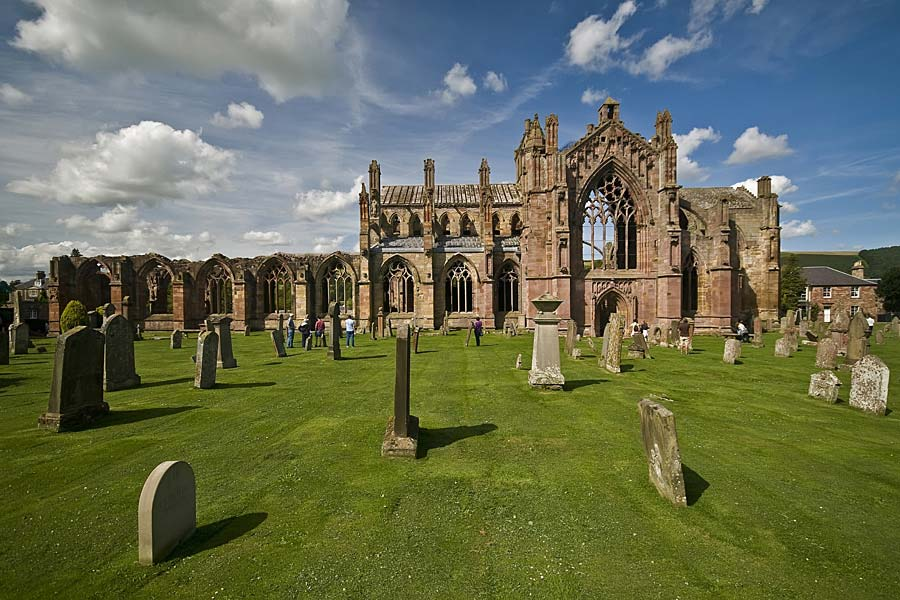 Melrose Abbey, Skotsko