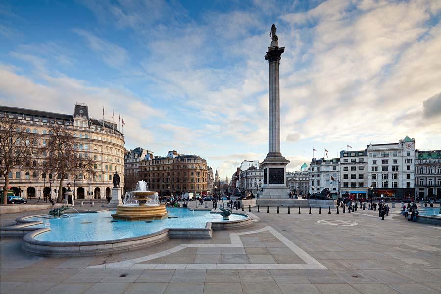 Trafalgarské náměstí, Londýn, Anglie