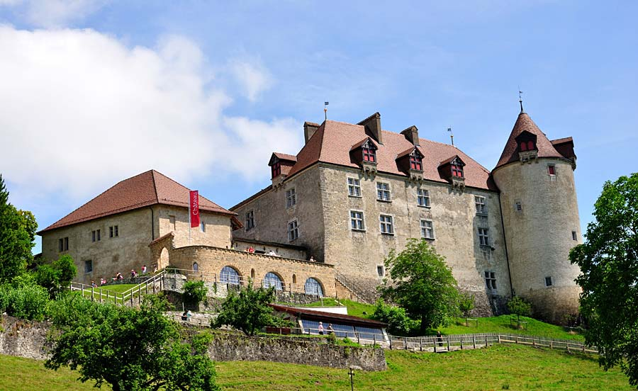Chateau de Gruyeres, Gruyeres, Švýcarsko