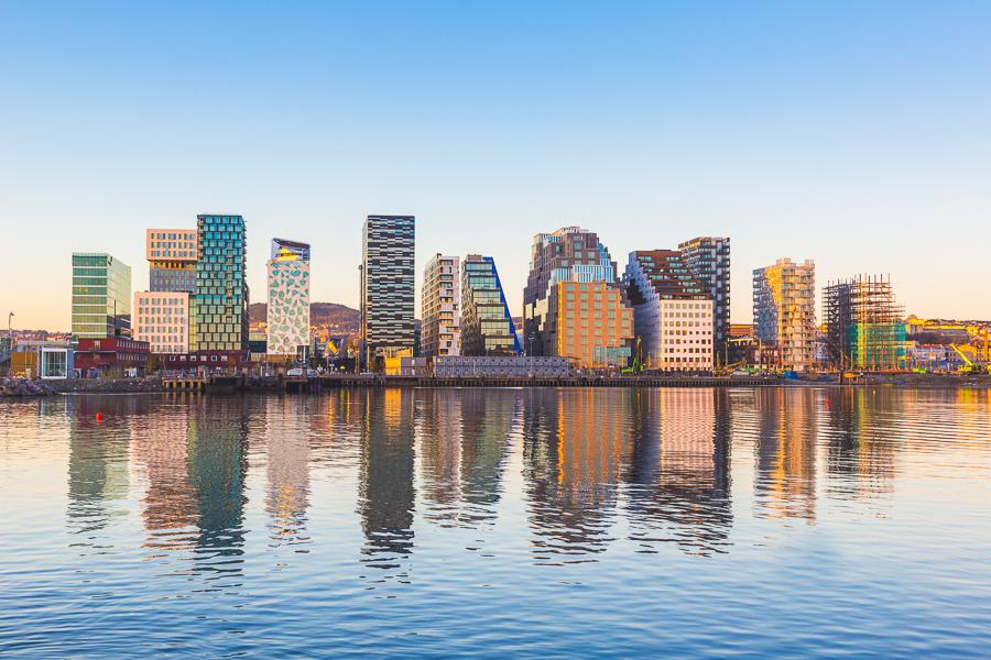 Norsko Oslo, modern buildings