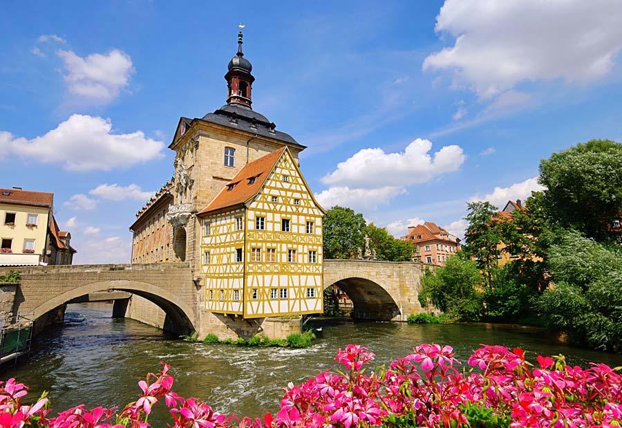 Altes Rathaus, Bamberg, Německo