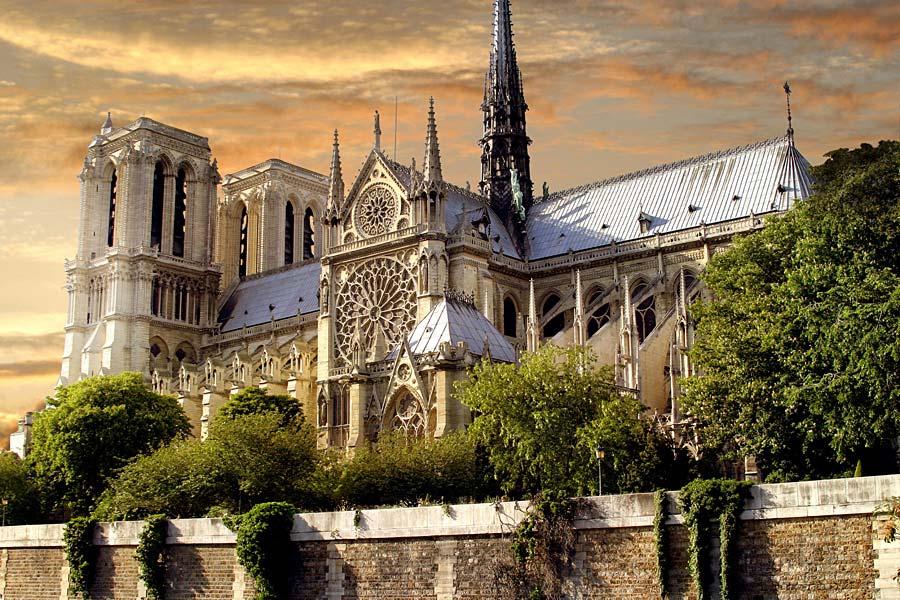 Cathedrale Notre Dame, Paříž, Francie