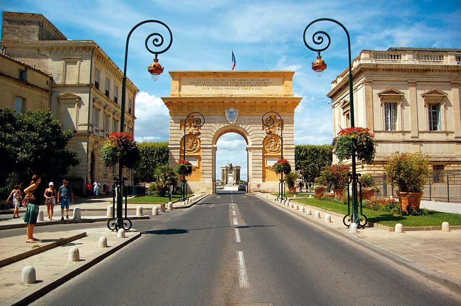 Arc de Triomphe, Montpellier, Francie