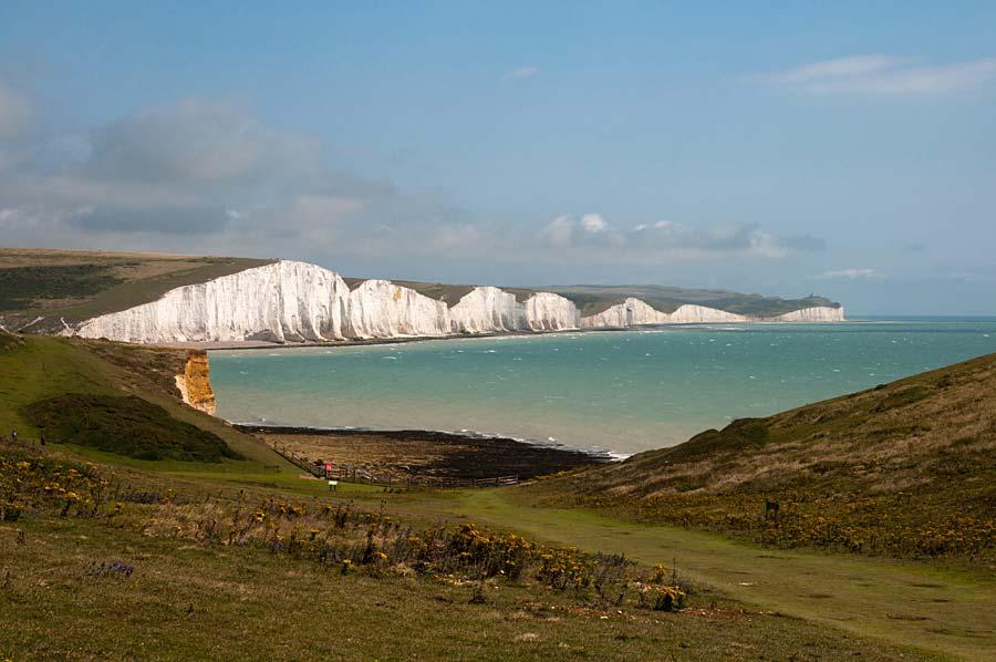útesy Seven Sisters, Anglie