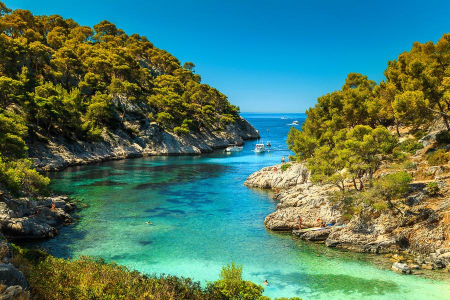 Francie Cassis, Calanques De Port Pin Bay
