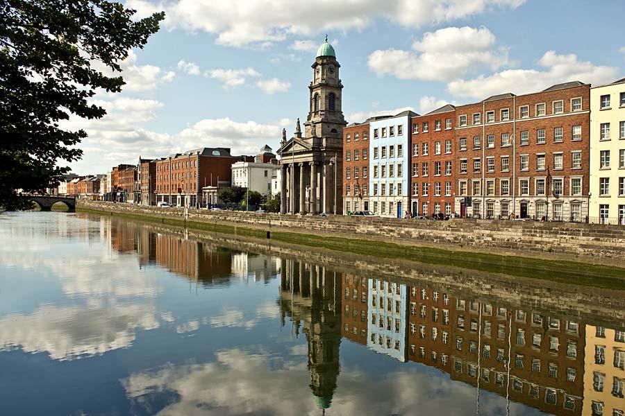 Řeka Liffey, Dublin, Irsko