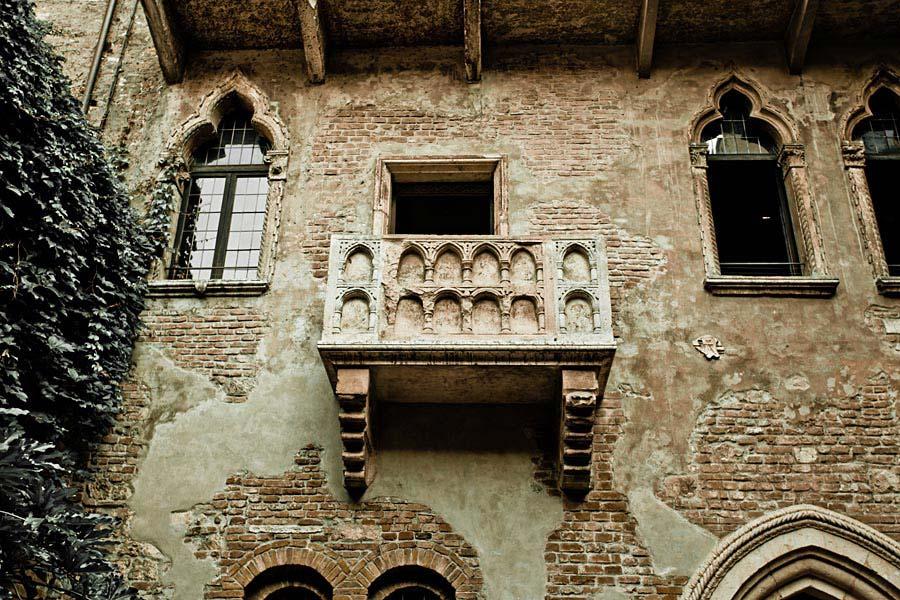 Balkón Romea a Julie, Verona, Itálie