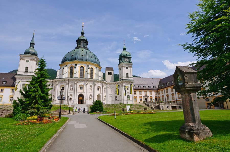 Ettal Kloster v Bavorsku, Německo