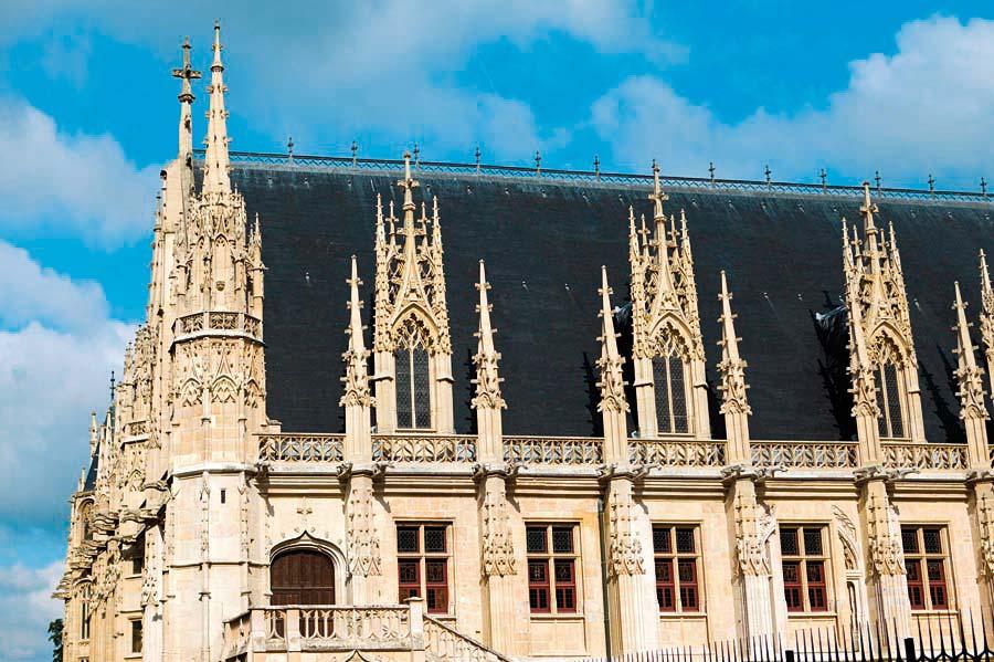 Palais de Justice, Rouen, Francie