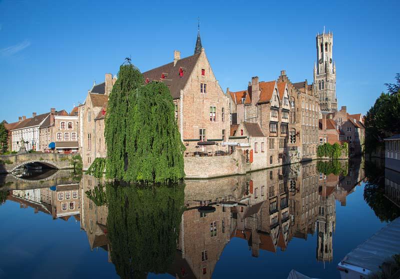 Rozenhoedkaai, Bruggy, Belgie