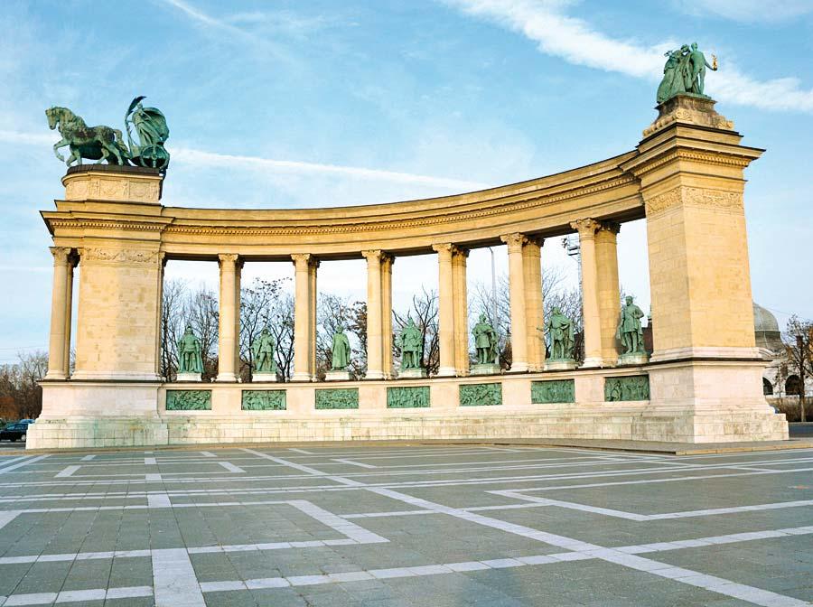 Náměstí Hrdinů, Budapešť, Maďarsko