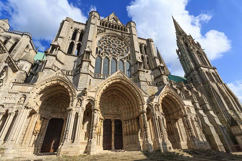 katedrála, Chartres, Francie