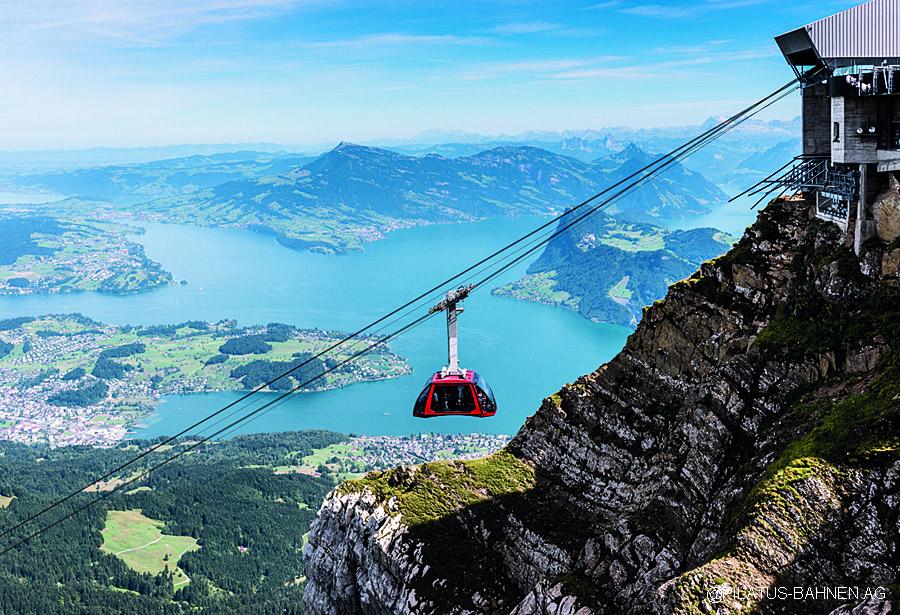 Svycarsko, Pilatus - Dragon Ride, jezero