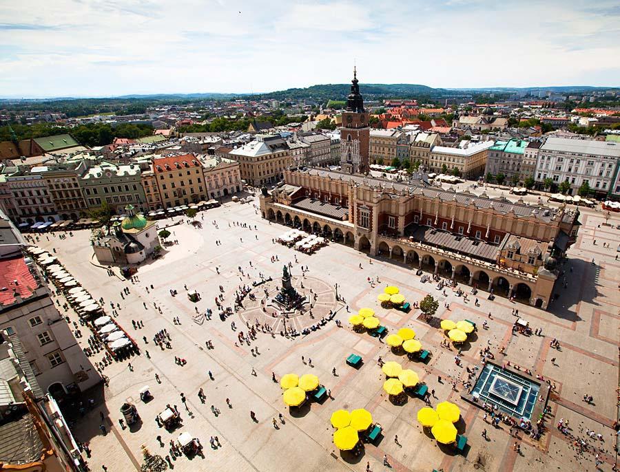 Rynek Glowny, Krakov, Polsko
