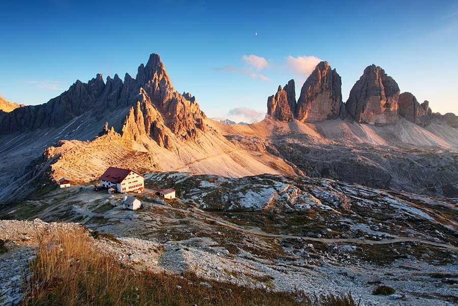 Tre Cime di Lavaredo, Dolomity, Itálie