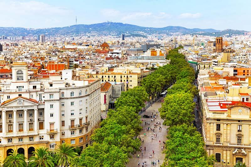 Barcelona, Španělsko, La Rambla